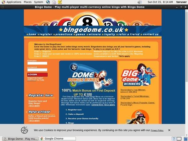 Bingo Dome Deposit Methods