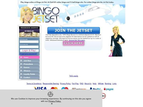 Bingo Jetset With Gift Card