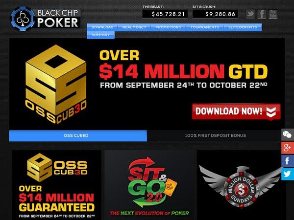 Black Chip Poker Bet Bonus