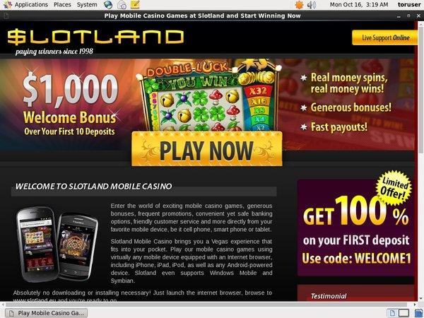Slotland With Credit Card