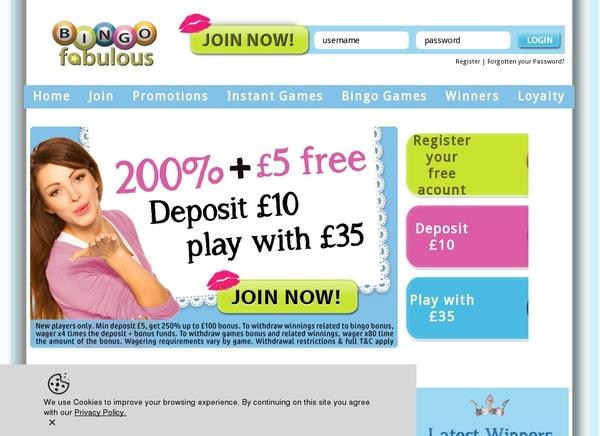Bingofabulous Telephone Betting