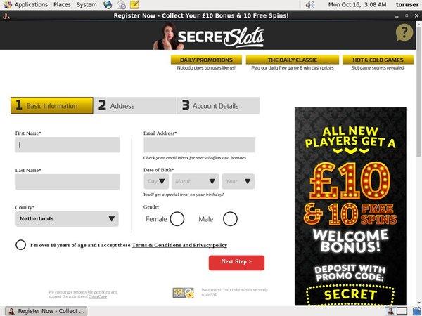 Secret Slots Wire Transfer