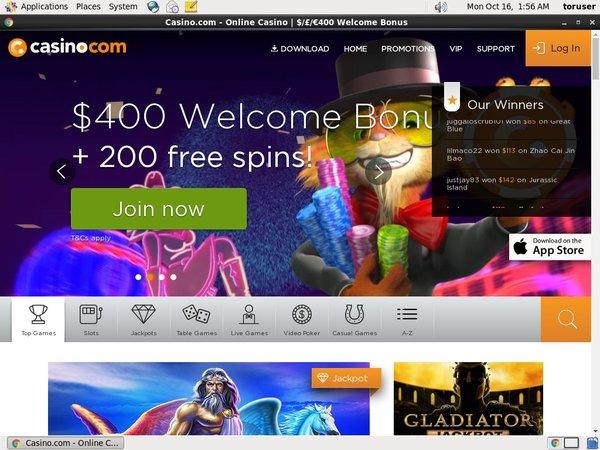 Casino.com Nuovo Conto