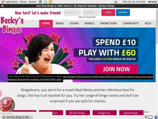 Beckysbingo Games Bonus