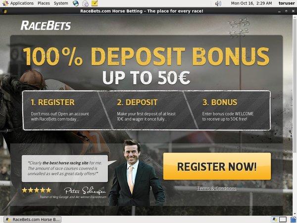 Max Race Bets Deposit