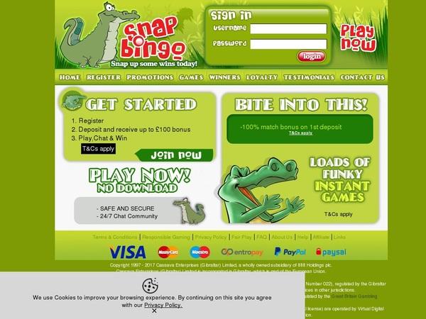 Snapbingo Free Signup Bonus