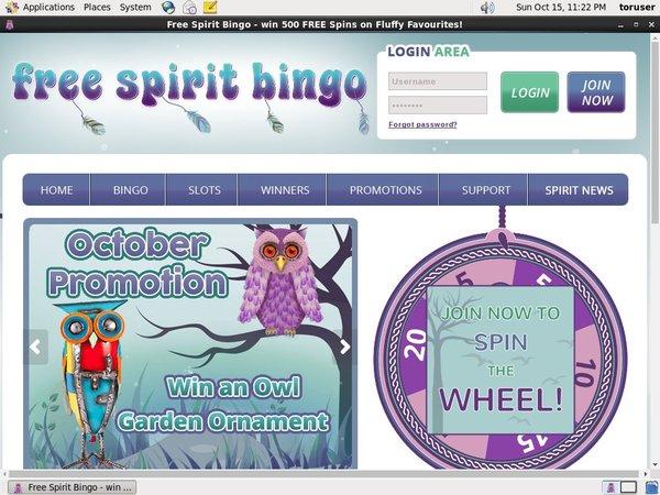 Free Spirit Bingo Free