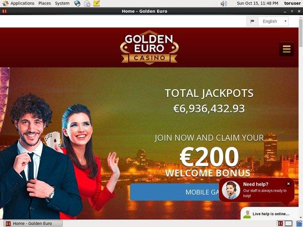 Goldeneuro Get Bonus