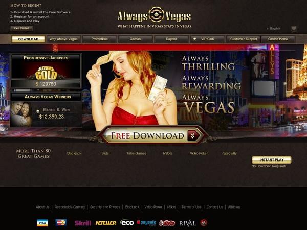 Alwaysvegas Games And Casino