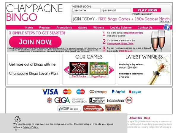 Champagnebingo Paypal Account