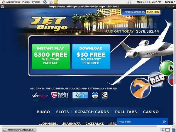 Jet Bingo Welcome Promo