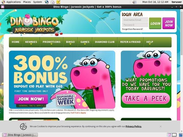 Ohne Einzahlung Dinobingo