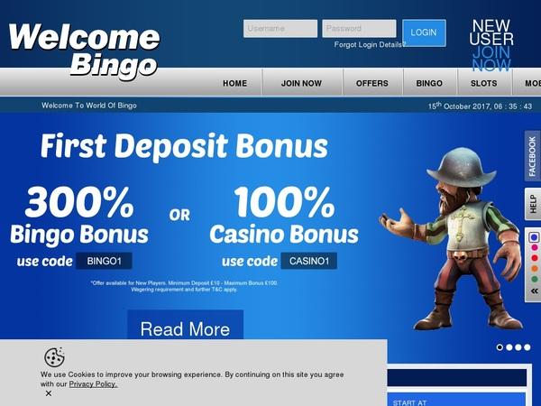 Welcome Bingo Com Casino