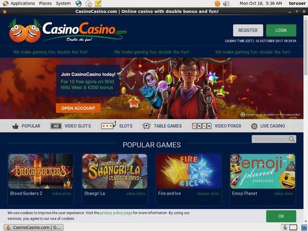 Casino Casino Registration Page