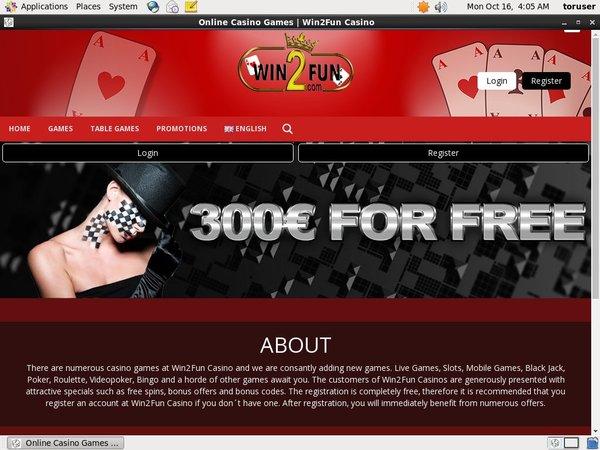 Win 2 Fun Depozit Bonusu