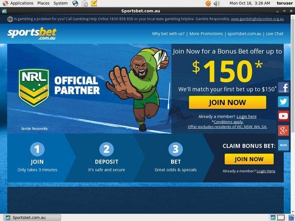 Sportsbet Welcome Bonus Package