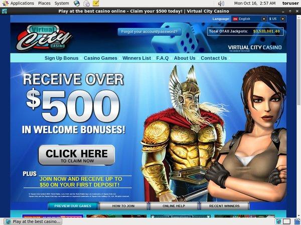 Promotions Virtualcitycasino