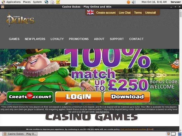 Casino Dukes Bonus Terms